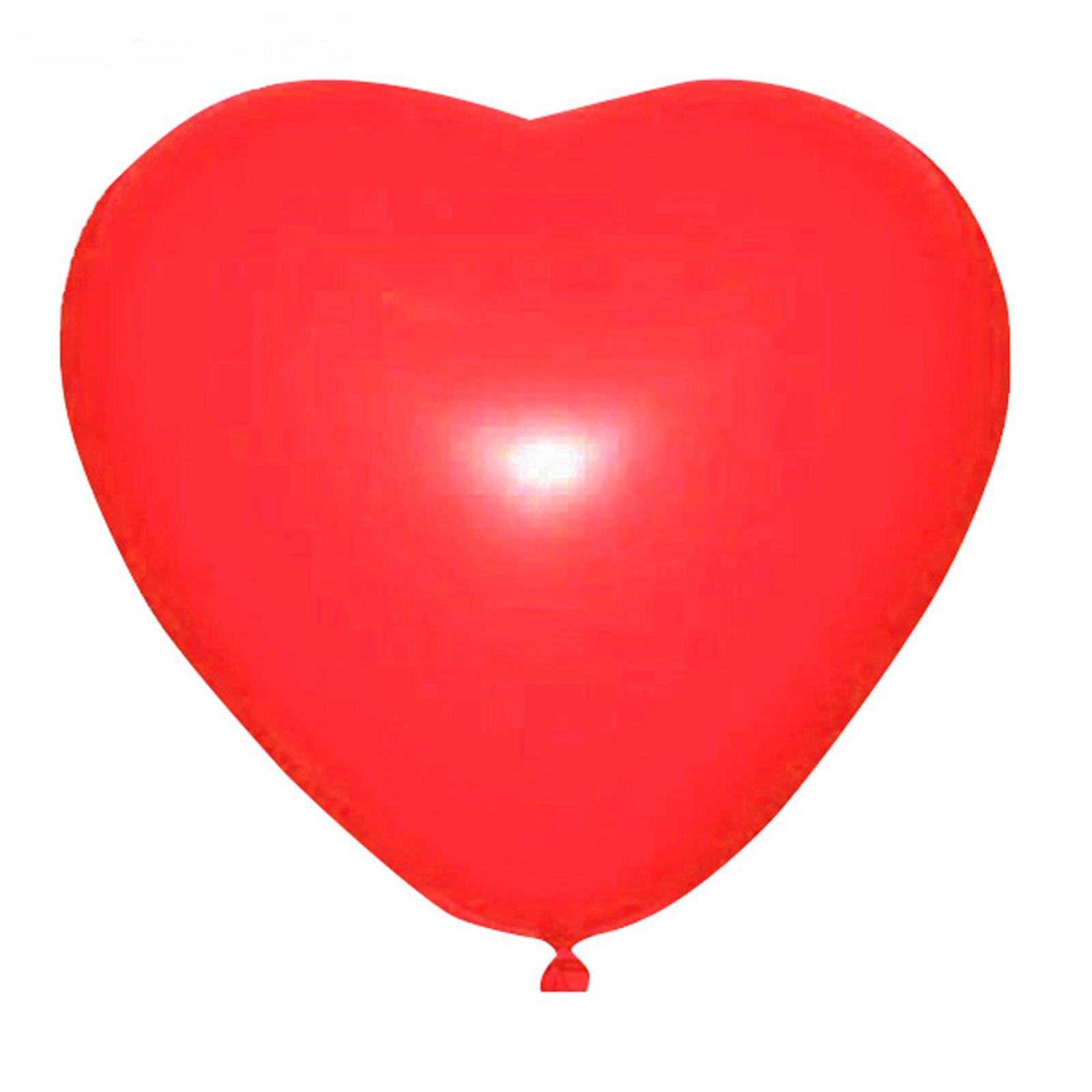 """Шар латексный 15"""", сердце, пастель, цвет красный 25шт/уп"""