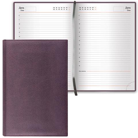 """Ежедневник недатированный А5, 160л, коричневый, классическая кожа """"Favorite"""" (BRAUBERG)"""