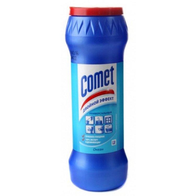 """Чистящий порошок КОМЕТ 400-475гр, порошок, """"Океан"""", банка (Comet)"""