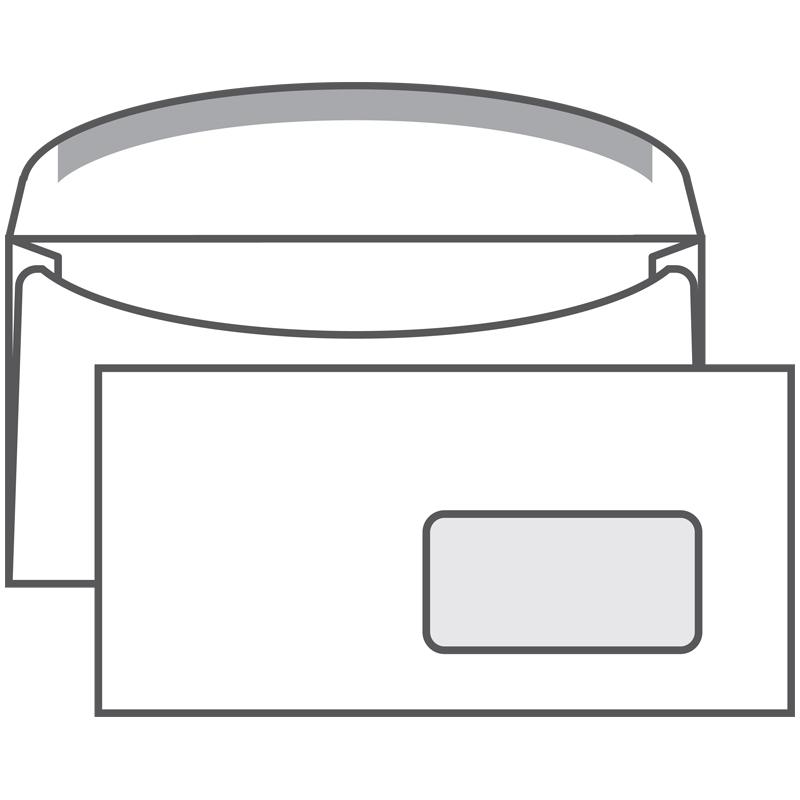 Конверт С65, 114х229мм, декстрин,клапан автомат,окно правое 45х90/1000шт