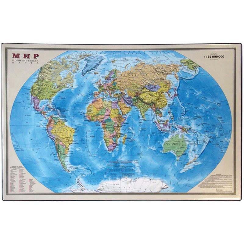 """Подкладка для письма 38х59см """"Карта мира"""" (ПО/К-3166) (OfficeSpace)"""