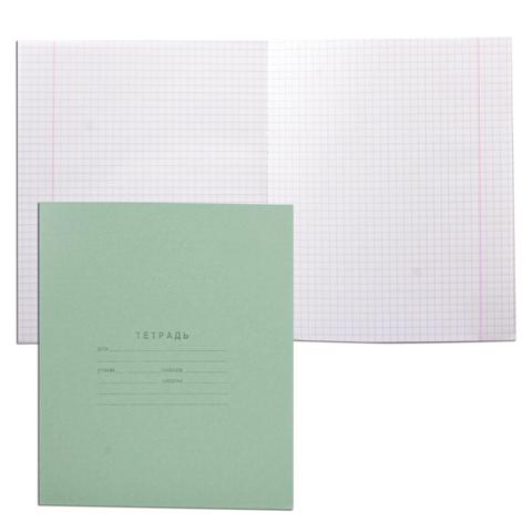 Тетрадь А5, 18л, клетка, зеленая обложка 280шт/уп (Арх.ЦБК)
