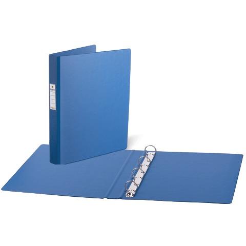 Папка на 4 кольца А4, 35мм, картон/ПВХ, синяя, до 180 листов (BRAUBERG)