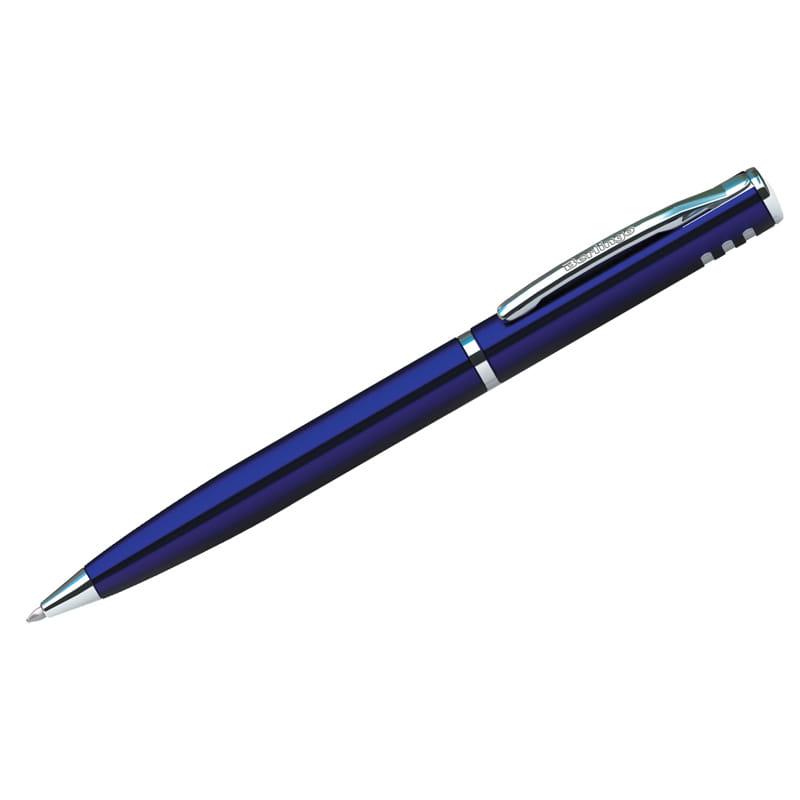 """Ручка шариковая поворотная синяя, 0,7мм, корпус синий, инд. упак.""""Silver Standard"""" (Berlingo)"""