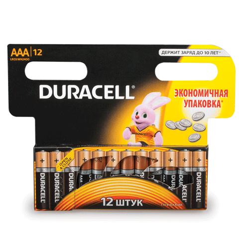 Батарейка AАA (поштучно) LR3 1.5В, 12шт/уп (работают до 10 раз дольше) (DURACELL)