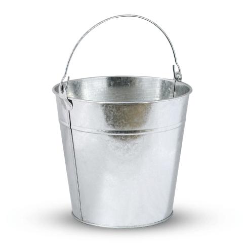 Ведро 12л, без крышки, оцинкованное