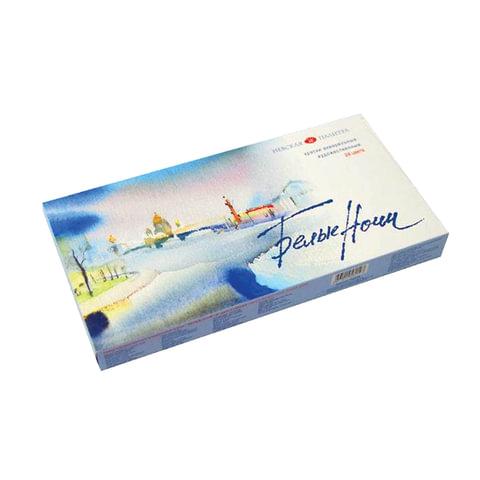 """Краски акварельные художественные 12 цветов, туба 10 мл, картонная коробка """"Белые ночи"""""""
