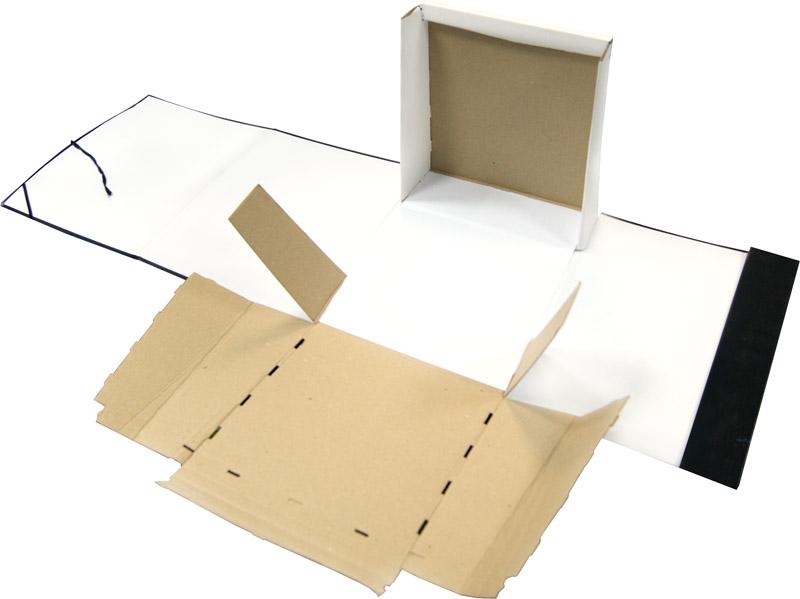 Короб архивный 250мм, бумвинил, на завязках, ассорти 25шт/уп (OfficeSpace)