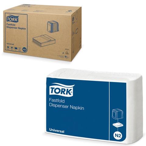 Салфетки 25х30, (250шт/уп) белые, Fastfold (Система N2)  (диспенсер 601679) (10903) (TORK)