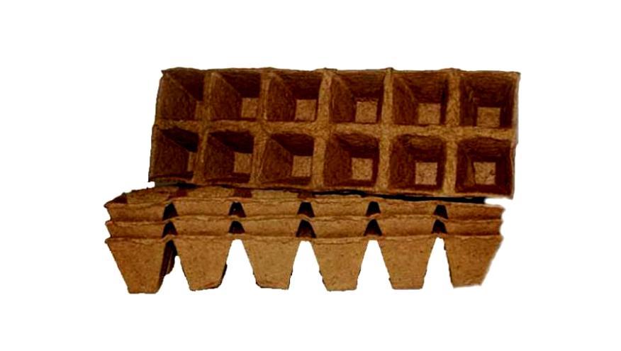 Торфяные горшочки 50х50 12 ячеек