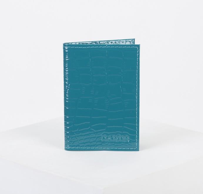 Визитница на 18 визиток, вертикальная, 1 ряд, изумрудная