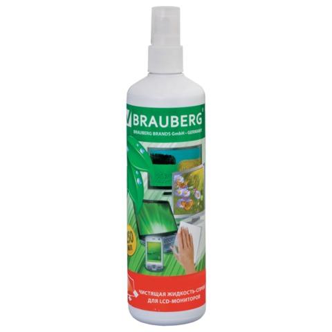 Чистящая жидкость-спрей  250мл,  для LCD (ЖК) -мониторов (BRAUBERG)