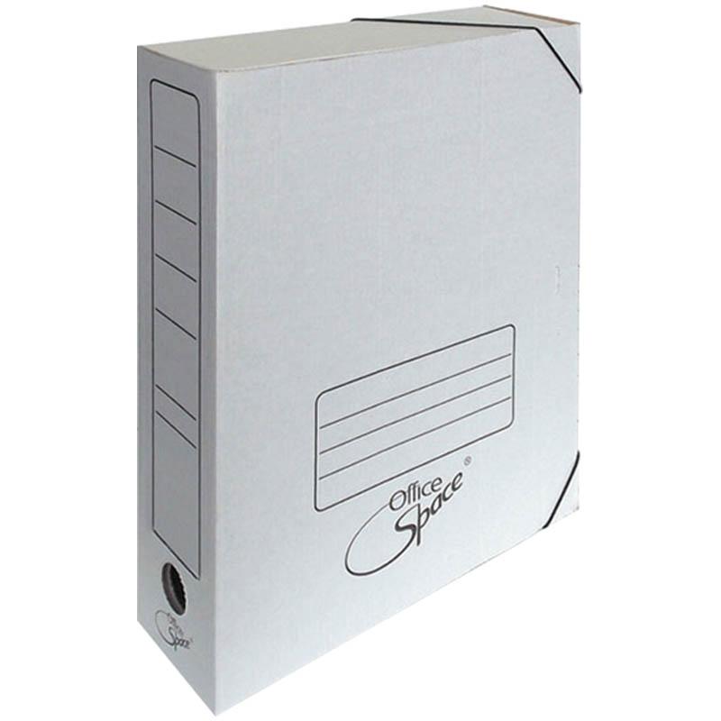 Папка архивная 75мм, МГК, на резинках, белая 50шт/кор (OfficeSpace)