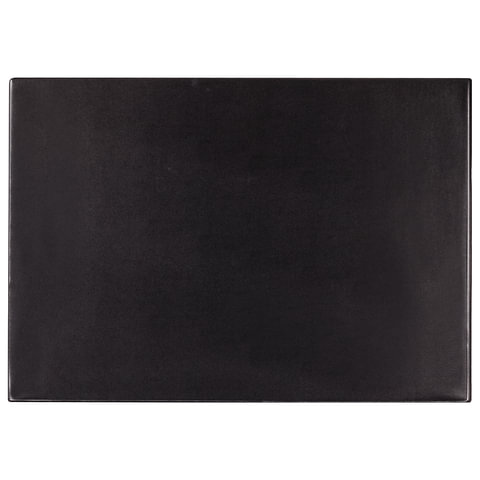 Подкладка для письма 38х59мм, черная, с прозрачным карманом (BRAUBERG)