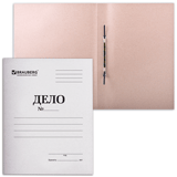 Скоросшиватель картонный 400г/кв.м, немелованый, белый, пробитый, до 200л., 150шт/уп (BRAUBERG)