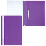 Скоросшиватель пластиковый с прозрачным верхом, фиолетовый 25шт/уп (BRAUBERG)