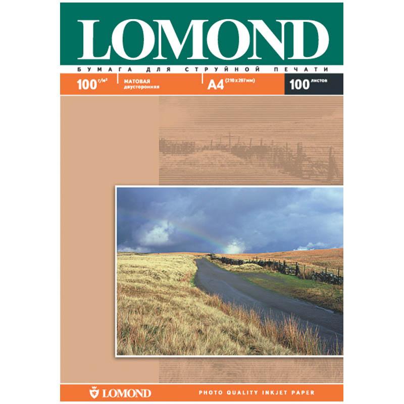 Фотобумага А4, 100гр, 100л матовая, 2-х сторонняя, д/струйных принтеров (LOMOND)