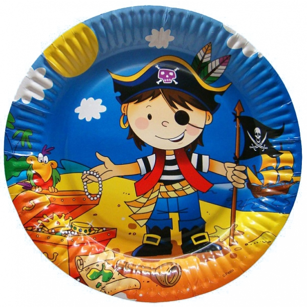 Тарелка бум Маленький пират 23 см (6 шт./уп.)