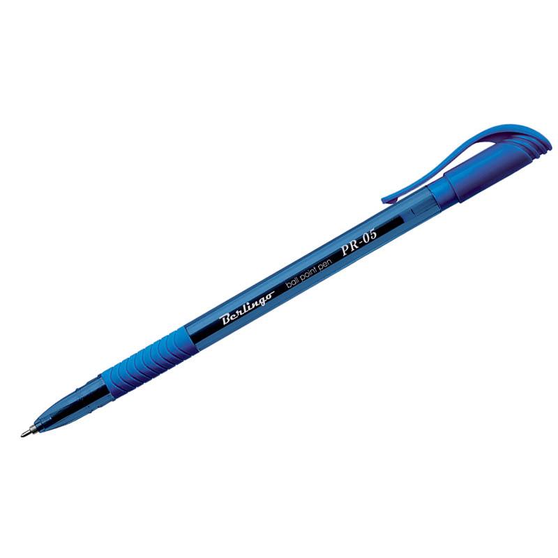 """Ручка шариковая синяя, 0,5мм (0,25), грип """"PR-05"""" 12шт/уп (Berlingo)"""