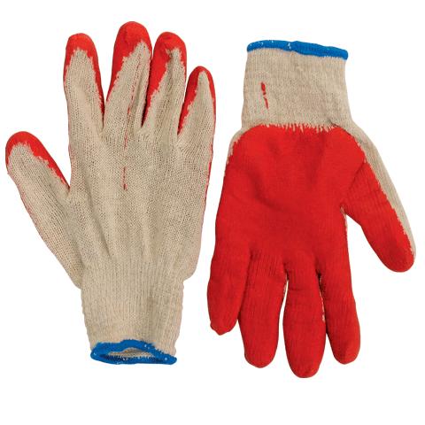 Комплект перчаток (5пар) х/б, латексная обливная ладонь, 600802