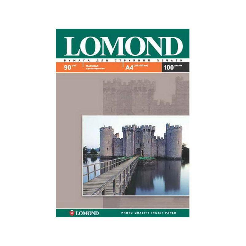 Фотобумага А4, 90гр, 100л матовая, односторонняя, д/струйных принтеров (LOMOND)