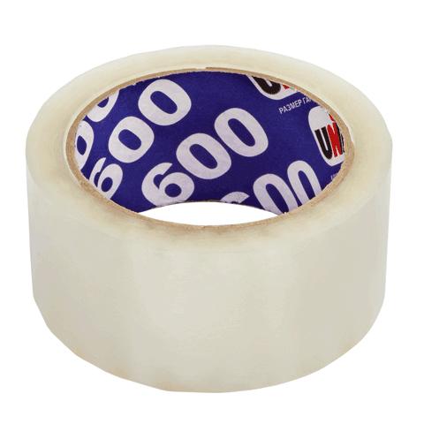 Скотч упаковочный 48х66м, прозрачный, 45мкм, 6шт/спайка (UNIBOB)