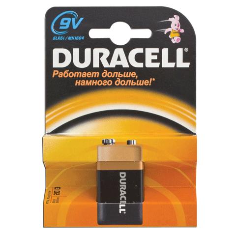 Батарейка 9V, щелочная, 9В (тип Крона) (DURACELL)