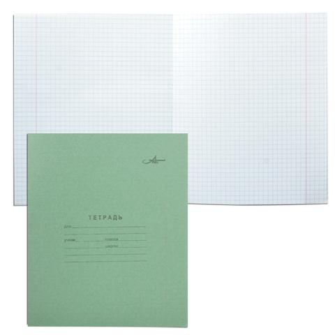 Тетрадь А5, 12л, клетка, зеленая обложка 420шт/кор (Арх. ЦБК)