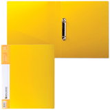 "Папка на 2 кольца 35мм, желтая, до 180 листов, 0,9мм ""Contract"" (BRAUBERG)"