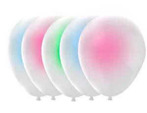 Набор шаров с подсветкой белой/Т (5шт)