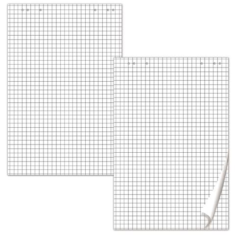 Блокнот д/флипчарта 64х96см, 20 листов, клетка, 80 г/м 5шт/уп (BRAUBERG)