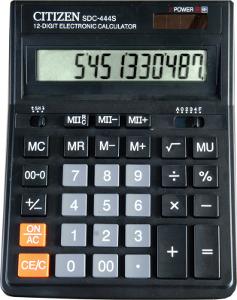 Калькулятор настольный 12 разрядов, двойное питание, 153х199х31мм, черный SDC (Citizen)