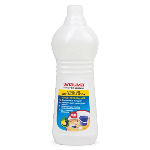 "Средство для мытья пола ЛАЙМА PROFESSIONAL, 1000мл, ""Лимон"""