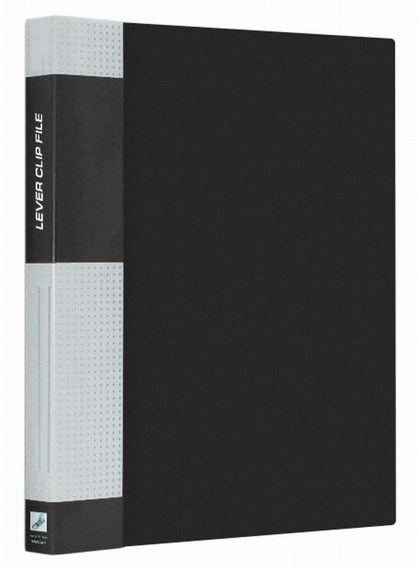 """Папка с прижимом 17мм, черная, торцевой карман, 700мкм """"Standard"""" (Berlingo)"""