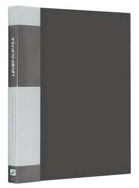 """Папка с прижимом 17мм, серая, торцевой карман, 700мкм """"Standard"""" (Berlingo)"""