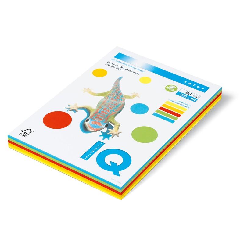 """Бумага А4, 80г/м2, 250л, (5цв х 50л), цветная интенсив """"Intensive Mix IQ Color"""" (RB02) (IQ)"""