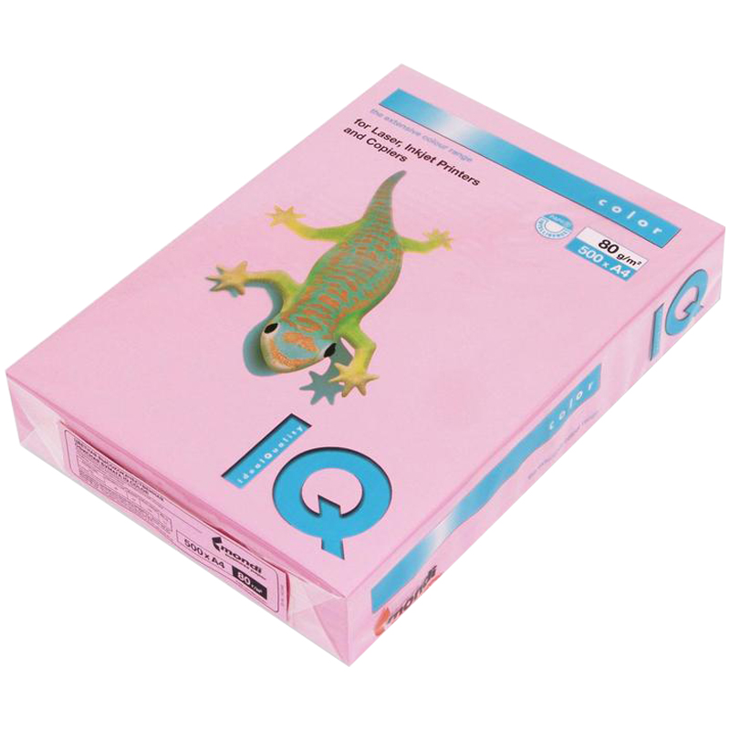 "Бумага А4, 80г/м2, 500л, розовый (PI25) ""Color pale"" 5шт/кор (IQ Color)"