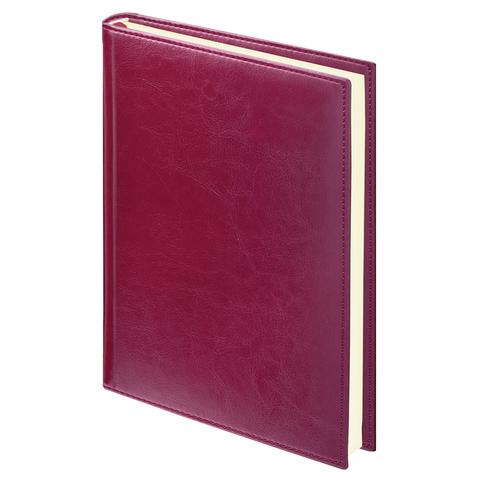 """Ежедневник недатированный А5, 160л, бордовый, гладкая кожа, крем.блок """"Imperial"""" (BRAUBERG)"""