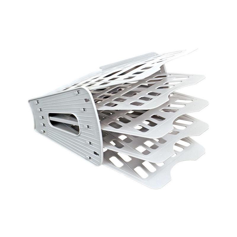 Лоток (веер) 5 секций, серый, вертикально-горизонтальный (Стамм)