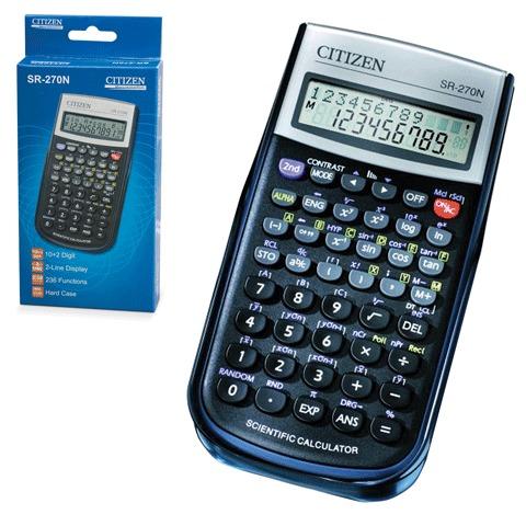 Калькулятор инженерный 10+2разр, 236 функц,2-е питание, 2-х стр, 154x80мм (CITIZEN )