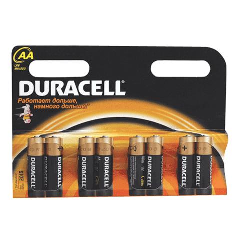 Батарейка AA LR6 1.5В, 8шт/уп (работают до 10 раз дольше) (DURACELL)