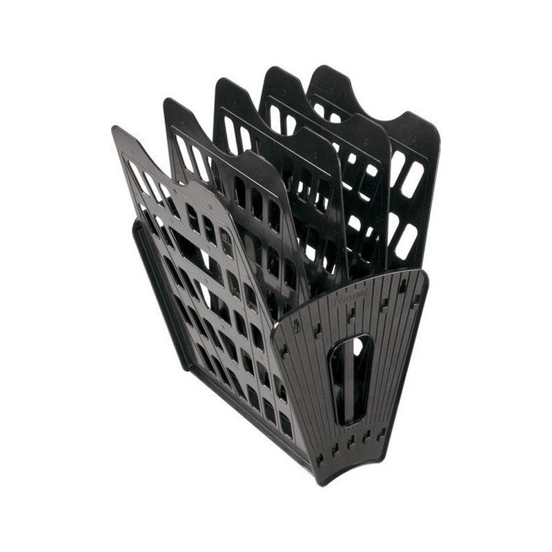 Лоток (веер) 5 секций, черный, вертикально-горизонтальный (Стамм)