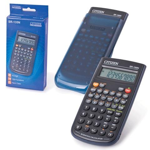 Калькулятор инженерный 8+2 разр, 128 функцй, питание от батарейки, 154х84мм (СITIZEN)
