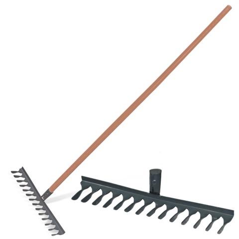 Грабли классические витые 14 зуб, ширина 43,5см, высота 150см, с черенком высший сорт, КМ000876