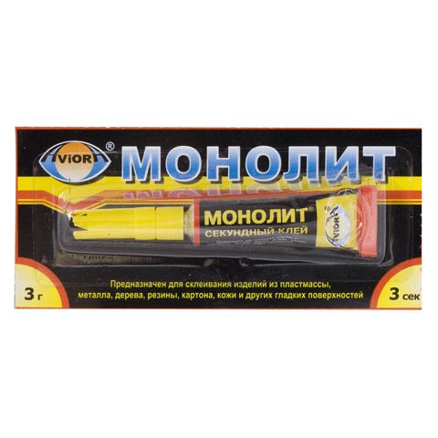 "Клей-момент 3гр ""Монолит"", 12шт/уп (Aviora)"