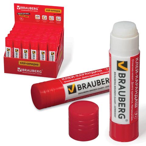 Клей-карандаш 9гр, 30шт/уп (BRAUBERG)