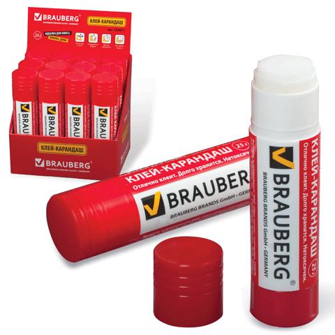 Клей-карандаш 25гр, 12шт/уп (BRAUBERG)