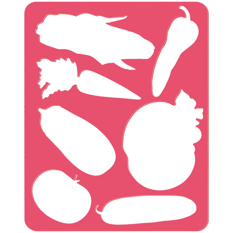 """Трафарет-раскраска """"Овощи"""" (Стамм)"""