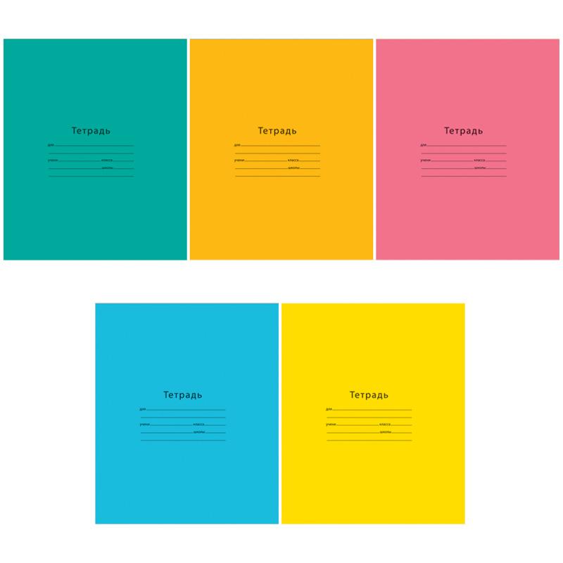 """Тетрадь А5, 24л, линия, обложка ВД-лак """"Одноцветная. INTENSIVE"""" (ArtSpace), 18шт/спайка"""
