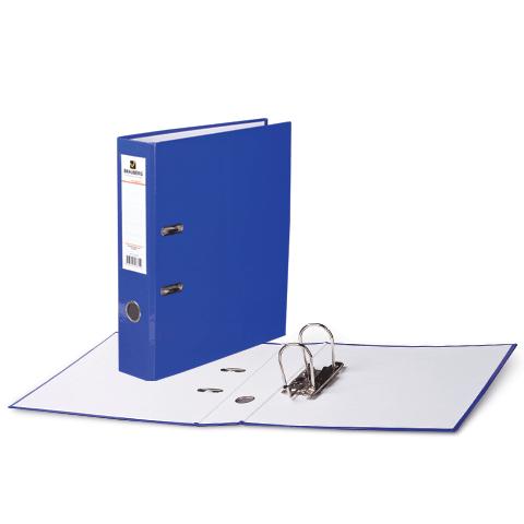 """Папка-регистратор 80мм, ламинированная, синяя """"Energy"""" 24шт/уп (BRAUBERG)"""